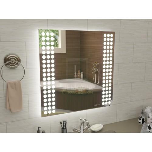 Квадратное зеркало с подсветкой для ванной Терамо 120x120 см