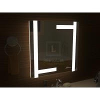 Квадратное зеркало в ванную с подсветкой Витербо размером 1000x1000 мм