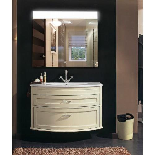 Зеркало в ванную с LED подсветкой Аврора размер 120 на 120 см