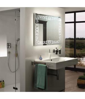Зеркало в ванную комнату с LED подсветкой Каролина 100x100 см