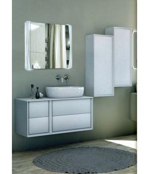 Зеркало в ванную комнату с подсветкой светодиодной лентой Саманта