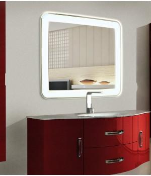 Зеркало в ванную комнату с подсветкой Мила размером 60 на 60 см