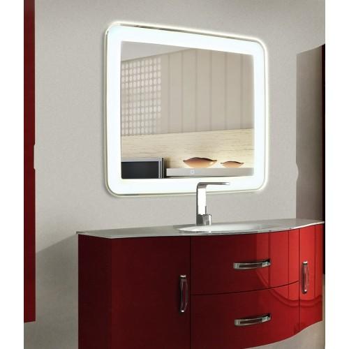 Зеркало для ванной с LED подсветкой Мила 120 на 120 см
